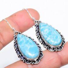 "Larimar Gemstone Handmade Ethnic Fashion Jewelry Earring 2.0"" SE3395"