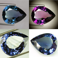IF 9+cts Huge Pear (14x10mm) Lab Corundum Color Change Alexandrite Loose Stone