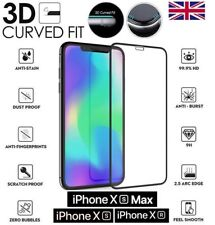 For Apple iPhone XS MAX Full Curved Tempered Glass Screen Guard Protector Cover