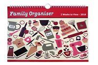 Calendar/Calender 2018 ~ FAMILY ORGANISER/PLANNER ~ Two Week View CL-0675