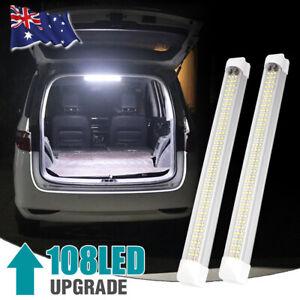 108LED Interior Ceiling Strip Light Bar Car Van Caravan Trailer Lamp White