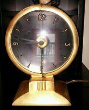 Vintage Art Deco 1950's Haddon Lighted Hour Mystery Dial Clock