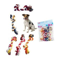 Dog Fun Play Toy  Chew Knot Knotted Puppy Pet Tough Strong Fetch - 5 Piece