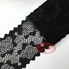 1 Yard Flower Stretch Lace Trim Ribbon Sewing Dress Skirt DIY Handicrafts FL74