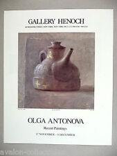 Olga Antonova Art Gallery Exhibit PRINT AD - 1990 ~~ Kettle