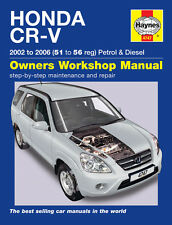 Honda CR-V 2.0 Petrol 2.2 Diesel 2002-06 (51 to 56 Reg) Haynes Manual 4747