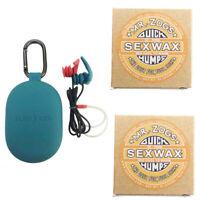 Surf Ears 3.0 Ear Plugs 2x Free Sex Wax Unisex Surfing ; Watersports Surfboards