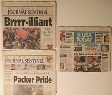 Lot of 3 GREEN BAY PACKERS 1997 Newspapers~SUPER BOWL XXXI ~Milwaukee/USA TODAY