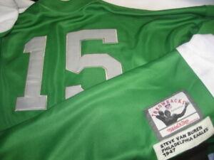 NFL PHILADELPHIA EAGLES STEVE VAN BUREN #15 H.O.F HALFBACK LS JERSEY M&N sz 54
