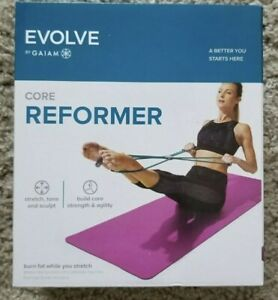 NEW Evolve Gaiam Four-loop Resistance Workouts Coreplus Reformer Home Exercise