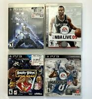 Lot of 4 Playstation 3 Video Games NBA Live, Star Wars Force, Angry Birds,Madden