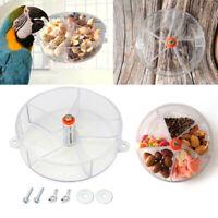 Pet Parrot Feeder Wheel Bird Foraging Bite Toy Food Puzzle Feeding Dispenser Kit