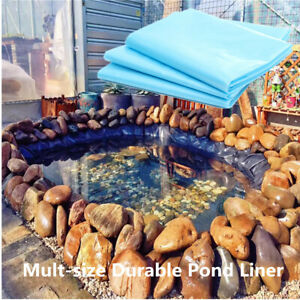 6 Sizes Fish Pond Liner Gardens Pools HDPE Membrane Reinforced Landscaping
