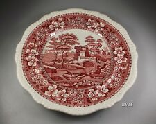 """SPODE copeland TOWER PINK DINNER PLATE  10 5/8""""  - old mark - SET OF 2 PLATES"""