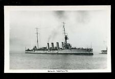 Navy British Shipping BHW4 YARMOUTH early RP Card 1926?? plain back