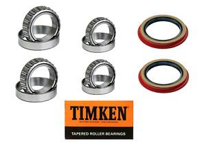 Ford Ranger 2WD Front Wheel Bearing & Seal Set 1995-2011  Premium TIMKEN Set