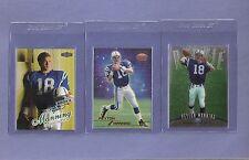 LOT of Three 1998 Peyton Manning Rookie Finest Topps Stars Fleer Ultra MINT