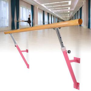 1.2m Wooden Portable Ballet Barre Dance Barre Freestanding Single Ballet Bar AU