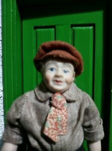 Dolls House Doll - working class man in cap