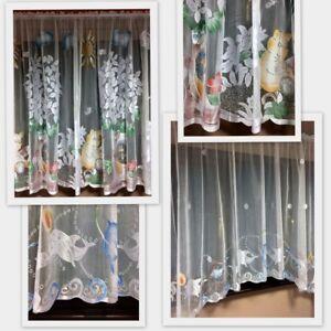 Children Kids  Ready Made Jardiniere  Net Curtains