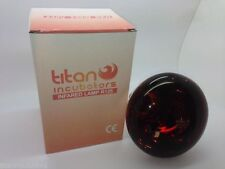 2 x 250w Infrared bulb For Poultry Heat Lamps by Titan Incubators Screw Fitting