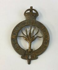 Welsh Guards Brass Cap Badge Large Size 6.2cm In Length #2
