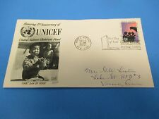 First Day Cover, UNICEF, United Nations Children's Fund, 15th Anniv., 1961, FDC