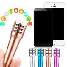 New Wired Mini KTV Singing Karaoke Microphone With Earphone For iPhone Sing Chat