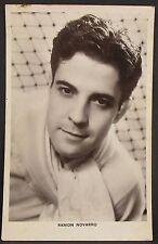Ramon Novarro-FILM PHOTO AUTOGRAPH-AK-Long Acre. London Vintage Pair (j-6674