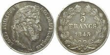 Francia - Luigi Filippo I - 5 Franchi 1845 - Ag - Argento - Silver