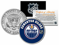 EDMONTON OILERS NHL Hockey JFK Kennedy Half Dollar U.S. Coin * LICENSED *