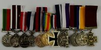Superb Set of 12 Full Size Replica WW1 WW2 War Medals British/Imperial/Campaign