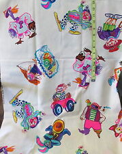 Vtg THC Hawaiian Textiles childrens print clown bear cat boy car girl pirate