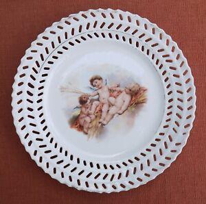 Vintage Ribbon Plate with Cherubs