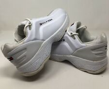 VINTAGE TOMMY HILFIGER DAD SHOES  BIG SOLE WHITE FLAG SPELL OUT TRAINERS 10.5
