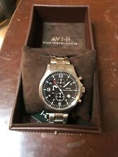 AVI-8 Hawker Harrier ii AV-4001-11 Analog Japanese-Quartz Silver Watch