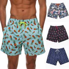 Men's Swimwear Cargo Shorts Casual Summer Beach Print Pants Holiday Board Pants
