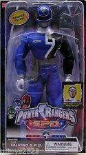 "Power Rangers SPD BLUE 12"" Ranger Talking Original New Factory Sealed 2004"