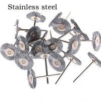 10/20PCS Wheel Brush Stainless Steel Cleaner Polishing Rotary Tool For Dremel E&