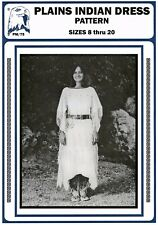 Women's Native American Plains Indian Dress 8-20 Eagle's View Sewing Pattern #75