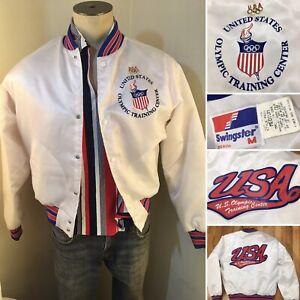 Vintage Jacket USA OLYMPIC TRAINING CENTER Athlete J Made USA  M 1984?