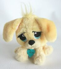 "Rescue Pets Yellow Puppy Dog Plush Doll 6"" Writing on heart tag Big Blue Eyes"