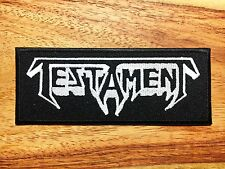 Testament Sew Iron On Patch Embroidered Rock Band Thrash Metal Heavy Music Logo.