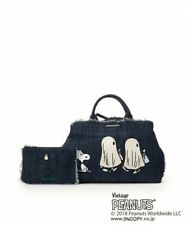 Samantha Thavasa PEANUTS SNOOPY Tote Bag Shoulder Purse Pouch Set Indigo Blue