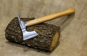 ※ Elegant small bearded hatchet / axe combined with curved adze blade by mapsyst