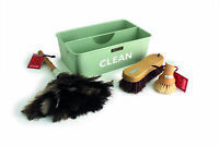 Charles Bentley Heritage Cleaning Caddy Set Made of Wood Feather & Metal