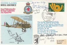 RAFSP1 18 Sqn - German version Signed 5 Battle of Britain Pilots, Crew WAAF