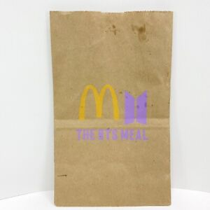 McDonalds Special Edition BTS KPOP Band Promo Meal Paper Bag 2021