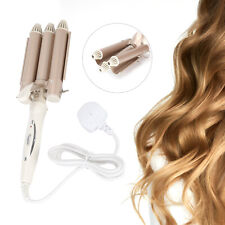 Hair Salon Ceramic 3 Triple Barrel Hair Wave Waver Curling Iron Curler Wand