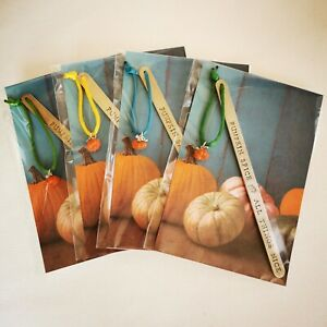 HANDMADE BOOKMARK HAND STAMPED FALL AUTUMN PUMPKIN SPICE & ALL THINGS NICE GIFT